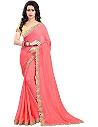 Online Hub,New Disigner Saree, Georgette Saree, Party Wear Sarres,Bollywood Designer Saree(Peach Cut Work )