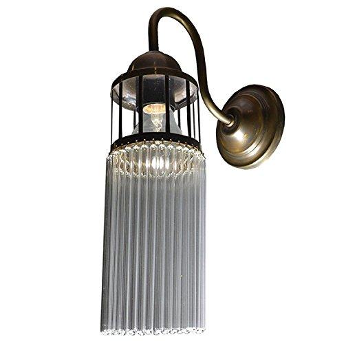 Jugendstil Wandlampe Messing Antik Wandleuchte Lampe Gold Flurlampe Vintage 34 x 10 x 19 cm