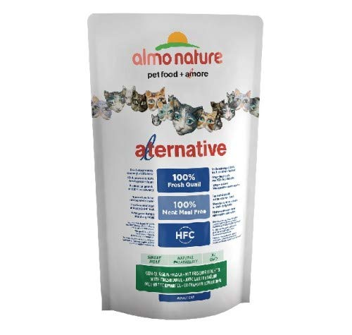 Almo Nature Croquettes pour Chat The Alternative à la Viande fraîche 750 g - Caille