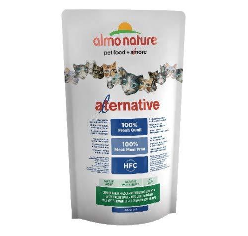 Almo Nature Croquettes pour Chat The Alternative à la Viande fraîche 750 g - Caille