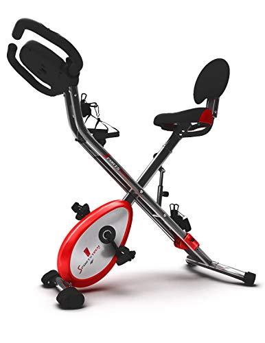 Sportstech X150 X Bike 4in1 Heimtrainer mit Smartphone APP & einzigartiges Zugbandsystem Handpulssensoren
