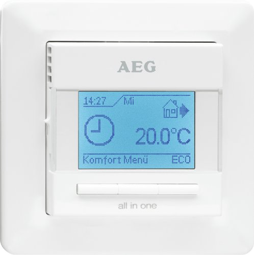 AEG FRTD 903 S Komfort Fußbodentemperaturregler, LCD-Display, Weiß, 229702
