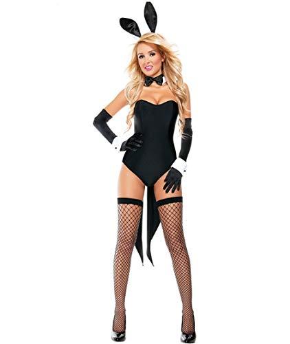 Häschen Kaninchen Kostüm - SJASD Hasenkostüm Sexy Bunny Kostüm, Damen Kaninchen Häschen Mädchen Anzieh Dessous Schlafanzug Bunny Girl Cosplay Tragen Uniform