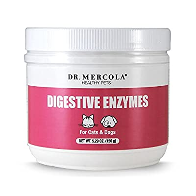 Dr Mercola Healthy Pets Digestive Enzymes for Pets (150g for Cats & Dogs) by Dr Mercola