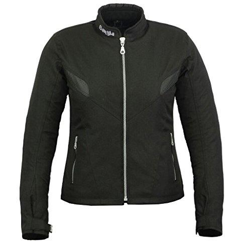 Damen Motorradjacke B-03 Bangla Touren Jacke Textil Schwarz XXXL