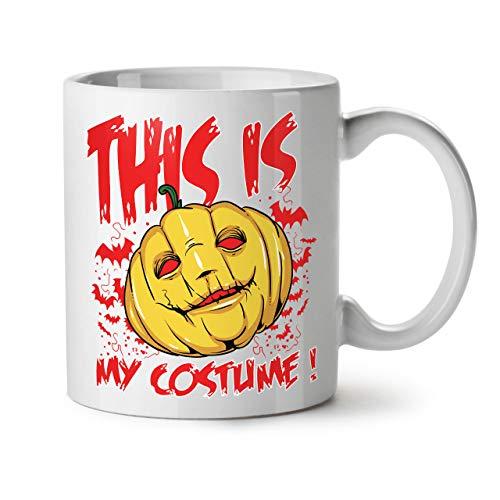 Wellcoda Halloween Kostüm Grusel Keramiktasse, Kunst - 11 oz Tasse - Großer, Easy-Grip-Griff, Zwei-seitiger Druck, Ideal für Kaffee- und Teetrinker