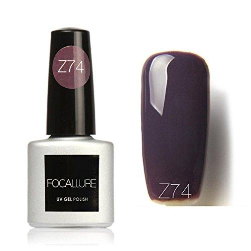 7ml Colle à ongles,Sisit Focallure 95 Couleurs Solide Couleur Gel Polonais Nail Art Gel Polonais UV LE (Modèle Q)