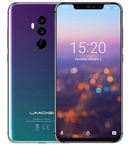 UMIDIGI Z2 PRO Android 8.1 Smartphone - Helio P60 Octa Core 6GB + 128GB, Notch a 6.2 pollici a schermo intero FHD+schermo (Rapporto 19: 9), AI Quad camera (Dual 8MP + 16MP), Doppia ricarica rapida (wireless 15W e cavo 18W), sblocco col volto / NFC - Twilight