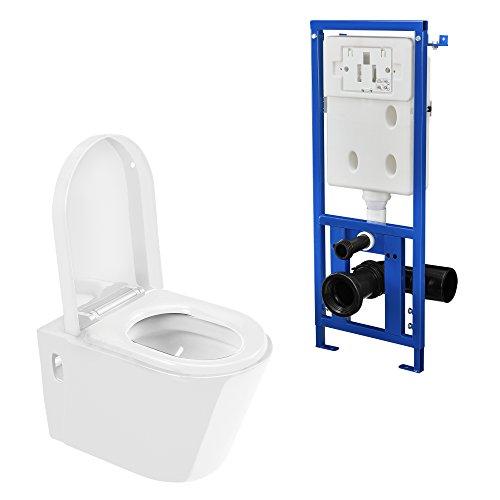 [neu.haus] Set-WC - Inodoro suspendido con cisterna + pulsador / WC de...
