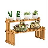 YUJIE Multi-Layer-Massivholz Mini Blumenständer Büro Fensterbank Lagerregal Topf Rack Multi-Kleine Pflanzenständer Länge 27cm37cm47cm (größe : 37cm*20cm*30cm)