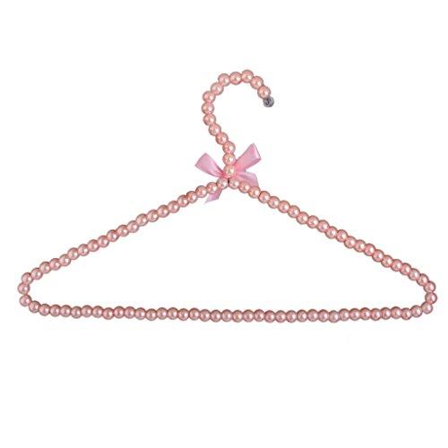 Rosa Kunststoff Perlen Bogen Kleiderbügel Haken Rack Für Erwachsene 39cm Perlen-rack