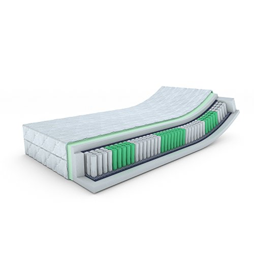 MSS Taschenfederkern-Matratze ECO - H3-200 x 140 x 19 cm Komfortschaum mit versteppten Bezug waschbar bis 60 °C