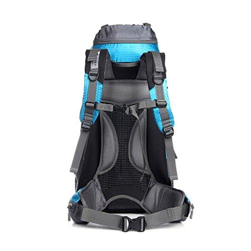 Outdoor-Klettern Tasche mit großer Kapazität Outdoor-Camping-Wander-Rucksack blauer See