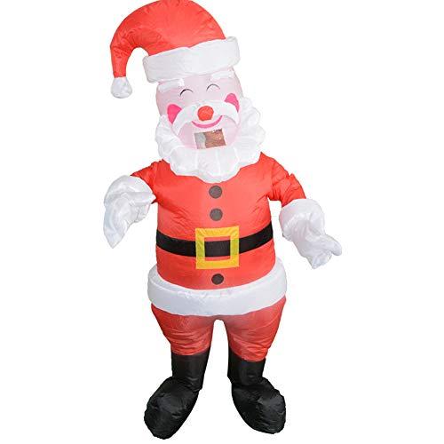 J.Shallow J. Flach, Santa Claus Aufblasbare Cartoon-Puppe Kostüm, Halloween/Weihnachtsfeier Aufblasbares Spielzeug, Maskerade, Kostüm-Requisiten, Walking Cartoon Doll Show, Polyester, Rot