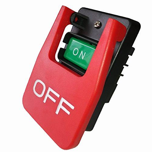 Industrieller Ein-/Aus-Schalter, Start-Stopp-Magnetschalter, großer Paddel-Schalter für Strandtischsäge 20A-35A HY 56,220V einphasig 380V dreiphasig, L, rot, 1 -