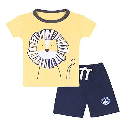 ChicNChic Baby Boys Summer Cute Cartoon Clothes Set Short Sleeve T-Shirt + Short Outfits