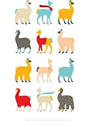 Cute LLamas Blank Book Journal: 100 pages, 6 x 9