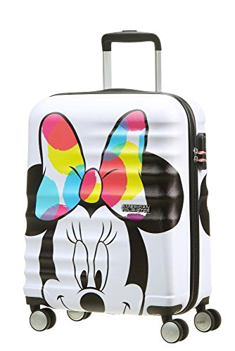 American tourister disney wavebreaker bagaglio a mano, s (55cm-36l), multicolore (minnie close-up)