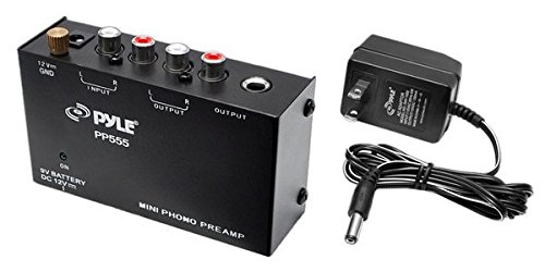 Pyle Pp555 Ultra Compact Phono Turntable Pre-Amplifier With 9V Battery Compartment To Mini Phono Preamp Test
