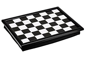 Premier Housewares Check Mate Lap Tray - Black/White