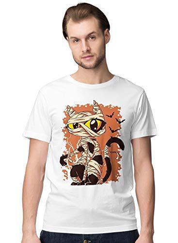 Cute Halloween Mummy Cat Herren T-Shirt S