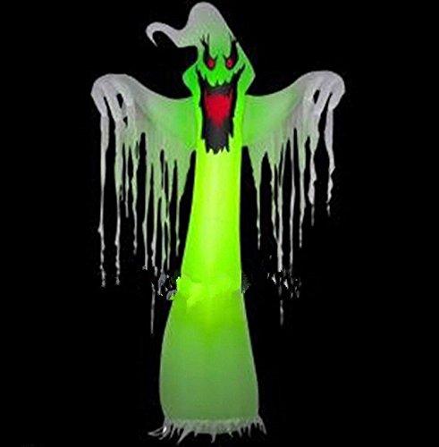 Riesiger aufblasbarer LED-Geister für Halloween-Dekoration, 3 m, mit Gebläse, 110 V oder 220 V