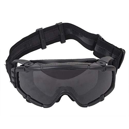 fish FMA Tactical SI-Ballistic Anti-Fog-Brille mit Lüfter Anti-Staub-Airsoft-Paintball-Schutzbrille für den Außenbereich mit 2 Linsen, schwarz