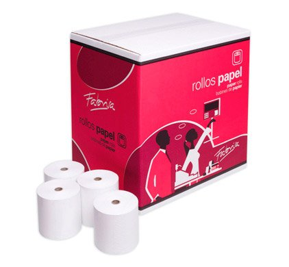 Rollo papel térmico 80 x 60 mm TPV. Caja 80 rollos