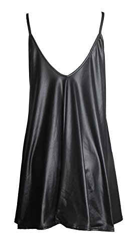 Fast Fashion - Robe Sangle Rose Chèque Du Crâne Bôme Épicée De Print Swing - Femmes Wetlook Noir