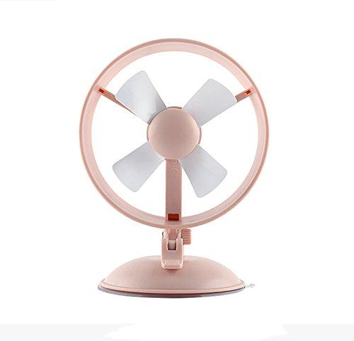 bcyfan Mini USB Ventilatore Elettrico Personale mano Fan Fan ventilatore da tavolo 3W 4Pale 2velocità per caldo estivo esterno auto ventosa Fan Ufficio