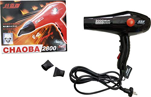 CHAOBA 2000 Watts Professional Hair Dryer 2800 (Black)