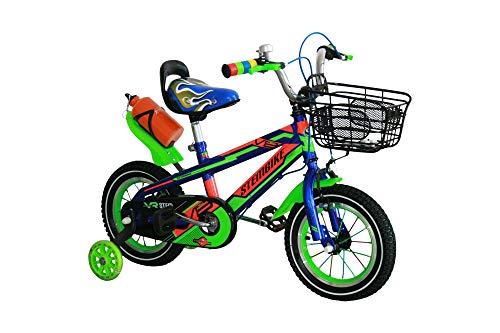 Kinderfahrrad 12 Zoll Kinder Fahrrad Spielrad blau grün STEM-Bike Kinderrad