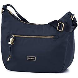 SAMSONITE Karissa - Hobo Bag M Bolso Bandolera, 36 cm, Azul (Dark Navy)