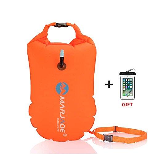 Jelkuz Swim Buoy 28L con bolsa seca + Funda impermeable para teléfono, flotador inflable de aguas abiertas para nadar nadadores seguros