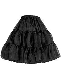 """Flora Jupon années 50 vintage en tulle Rockabilly Petticoat Longueur 45cm/18"""""""
