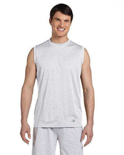 New Balance - Maglietta sportiva - Asimmetrico -  uomo bianco