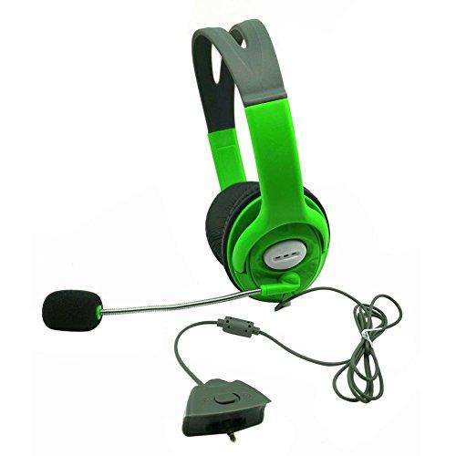 JikanSakari Slim Wireless Controller Xbox 360 Headset Kopfhörer Grün mit Mikrofon