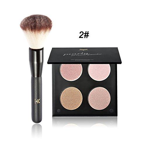 OYOTRIC 4 Couleurs Contour Highlight Palette + Pinceau Foundation Makeup Compact Set