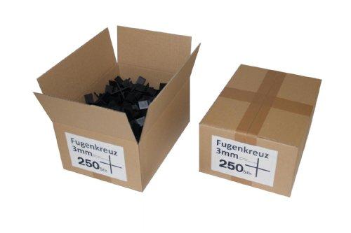 Fugenkreuze 3mm, Bauhöhe 20mm, 250 Stück im Karton