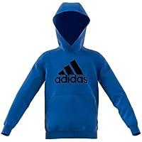 Adidas YB Logo Hood Sudadera, Niños, Azul/Negro, 176 (15/16 años)