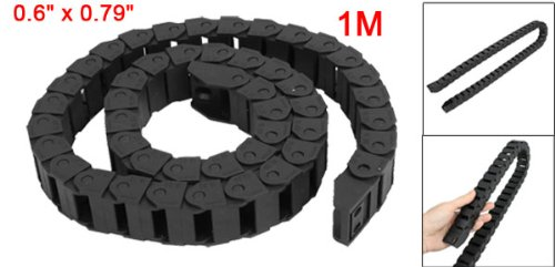 sourcingmap® 15 mm x 20 mm 1 m Open un côté du fil de frein de chaîne de transport