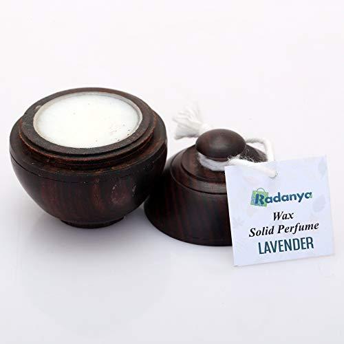 Natürlicher Lavendelduft Festes Parfüm Körper Moschus Natürliches Wachs In Einer Mini-Holzbox Für Männer Und Frauen - 6 Gramm (Pacifica Solid Perfume)