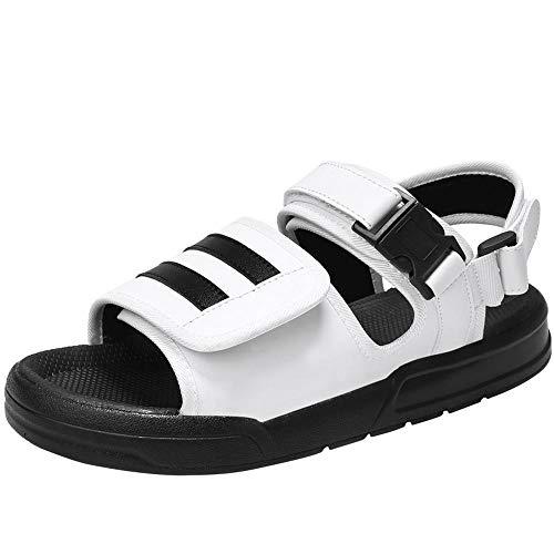 ZCLD Estate Sandali Traspiranti Moda Pantofole Versatili Comfort Outdoor Classico Sandalo Atletico Mens Sandali da Trekking Traspirante Scarpe da Spiaggia da Arrampicata Sportiva, Bianco, 41