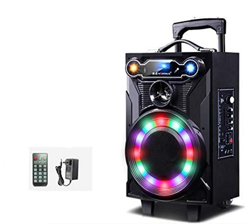 """Unbekannt Music System DJ-Lautsprecher 12""""Bluetooth Lichter & Funkmikrofon Eingebaute Wageneinrichtung,A"""