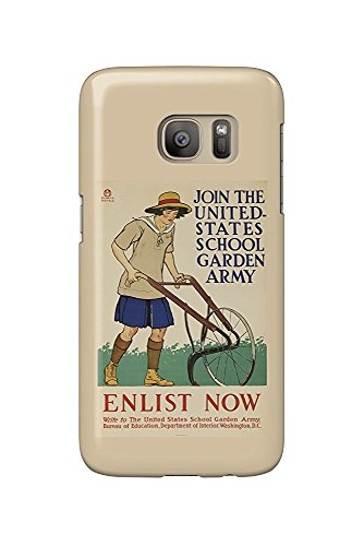 United States School Garden Army Vintage Poster (artist: Penfield) USA c. 1918 (Galaxy S7 Cell Phone Case, Slim Barely There)