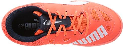 Puma evoSPEED Indoor 5.4 Unisex-Kinder Hallenschuhe Orange (lava blast-white-total eclipse 01)