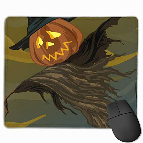 pad-Matte, Smooth Mouse Pad Halloween Pumpkin Straw Man Mobile Gaming Mousepad Work Mouse Pad Office Pad ()