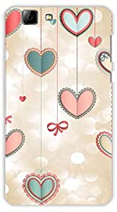 Crazy Beta LOTS OF HEARTS Printed Back Cover For Vivo V1