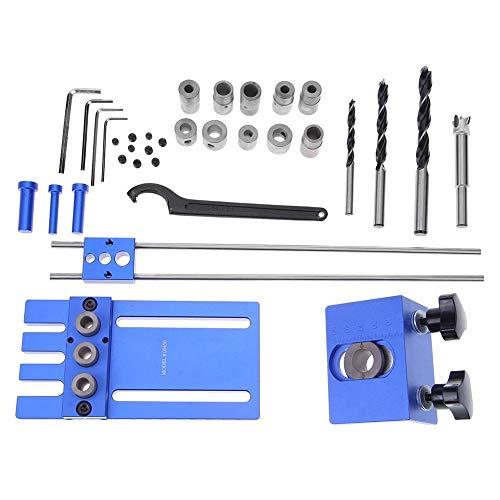 Undercover Jig-Set, Seawang Dübel Jigs 3 in 1 Bohrhilfe Kit Holz Tischlerei Hochpräzisions-Dübel Jigs DIY Werkzeuge (Jig Stifte)