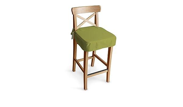 Dekoria ikea ingolf sgabello sedile pad satinato colore: verde
